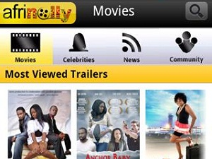 With the Afrinolly mobile app, users will be able to watch movie trailers of movies produced in Africa (image: Afrinolly)
