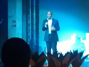 Microsoft's MD Mteto Nyati during the launch event in Johannesburg (image: Charlie Fripp)