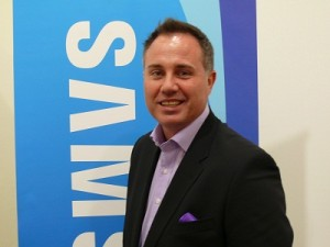 Deon Liebenberg, Telkom's new Head of Business Mobile, while he was still with Samsung (image: Charlie Fripp)