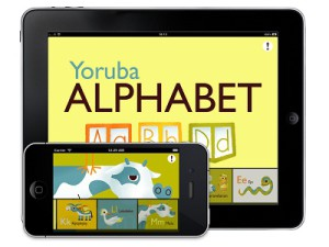 SpeakYoruba combines illustrated flashcards with the iOS touch interface (image: AJA.LA)