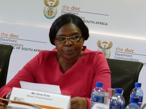 Minister of Communications Dina Pule (image: Charlie Fripp)