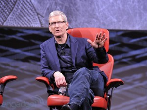 Tim Cook, Apple's CEO (image: Engadget)