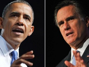 U.S Presidential candidates Barack Obama and Mitt Romney (image: The Telegraph)