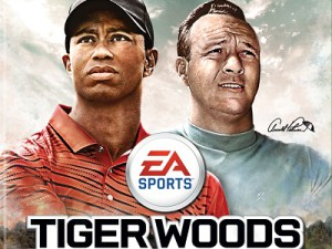 Arnold Palmer makes his first appearance alongside Tiger Woods on the cover of Tiger Woods PGA TOUR 14 (image: EA)