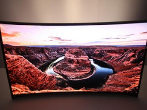 Samsung's curved OLED TV at the International Consumer Electronics Show (image: Samsung)