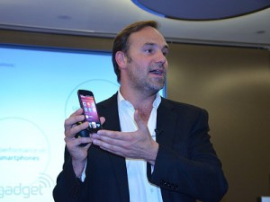 Canonical founder Mark Shuttleworth during the London launch (image: Engadget)