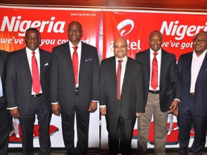 Airtel Nigeria officials (l-r): Chief Marketing Officer, Olu Akanmu, CEO/MD, Mr. Segun Ogunsanya, Chief Operating Officer &amp; ED, Deepak Srivastava, Chief Sales Officer, Inusa Bello and Director, Corporate Communications &amp; CSR, Emeka Oparah at the launch of Airtels new Network Campaign Weve Got You Covered on Tuesday in Lagos. (Image: Airtel Nigeria)