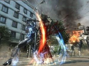 A screenshot from Metal Gear Rising: Revengeance (image: Konami)