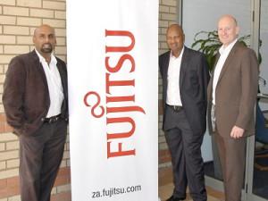 Puven Ramasamy, Fannie Mahlangu and Quentin Schots – Equity partners in Fujitsu's B-BBEE Deal. (Image: Fujitsu)