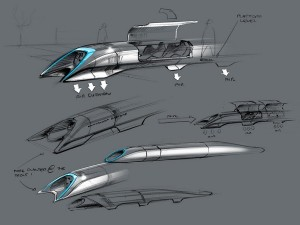 Elon Musk's detailed plan of the Hyperloop (image: Elon Musk)