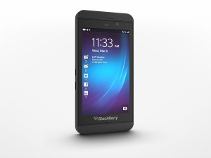 BlackBerry's Z10 (image: BlackBerry)