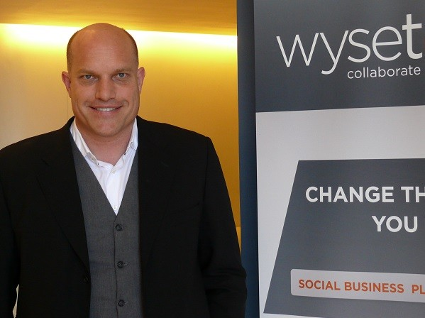 WyseTalk's CEO Gys Kappers (image: Charlie Fripp)