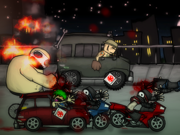 A screenshot from Charlie Murder (image: Ska Studio)