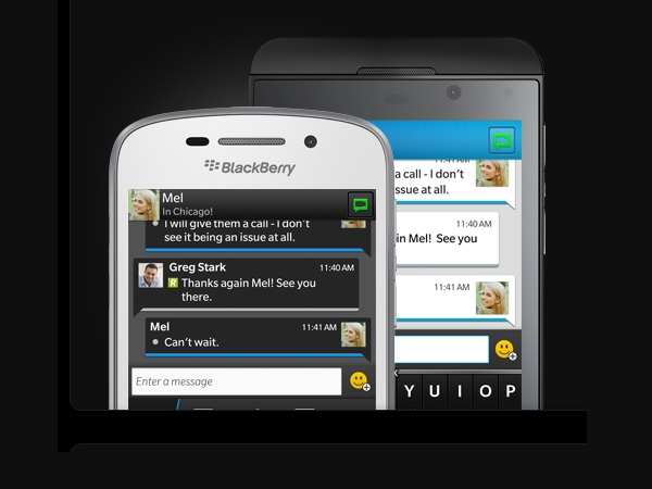 The BlackBerry Messenger (BBM) app will be made available for Android and iOS devices very soon. (image: BlackBerry)