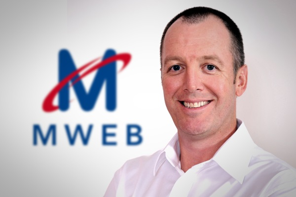 Derek Hershaw, CEO of MWEB ISP (image: MWEB)