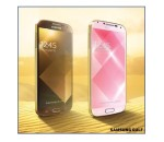 Samsung's new gold and pink Galaxy S4 smartphones (image: Samsung)