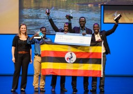 Team Code 8 from Uganda walk away with the Women's Empowerment Award for their project called Matibabu (image: Microsoft)