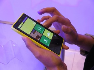 Nokia's new flagship model, the Lumia 1020 (image: Charlie Fripp)