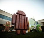 The Android KitKat statue unveiled by Google's Senior Vice President Sundar Pichai (image: Google)