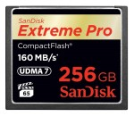 SanDisk today announced the availability of the 256GB SanDisk Extreme Pro CompactFlash memory card (image: SanDisk)