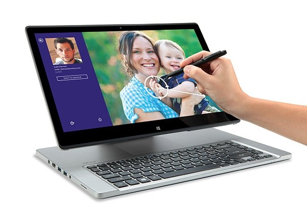 Acer today announced its Aspire R7 notebook now includes the Acer Active Pen (image: Acer)