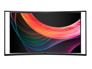 Samsung Electronics unveiled the first Curved UHD TV in the world at IFA 2013 (image: Samsung)