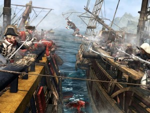 Naval warfare makes up about half of the title (image: Ubisoft)