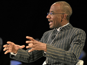 Nigerian Central Bank Governeor, Sanusi Lamido Sanusi.  The Central Bank of Nigeria has been blamed for the slow up-take of Mobile Money (Image Credit: World Economic Forum)