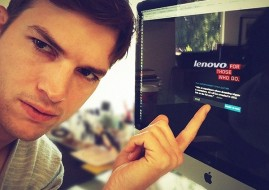 In his new role as a Lenovo product engineer, Kutcher will work with the company's engineering teams (image: ZD Net)
