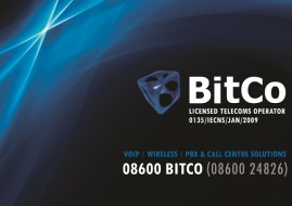 National tier 1 Telco & ISP BitCo is debuting at the MyBroadband Conference 2013 by sending one lucky visitor home with a Polycom IP VVX500 conference phone. (Image source: BitCo)