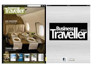 A screenshot of Business Traveller Africa's iPad application (image: BTA)