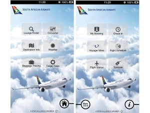 A screenshot of SAA's mobile app (image: SAA)
