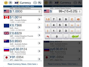 A screenshot of XE Currency (image: Apple)