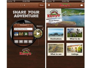 A screenshot of Kenya Tourism's iOS app (image: Apple)