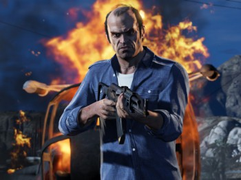 A screenshot of Trevor Phillips in Grand Theft Auto V (Image source: Rockstar)