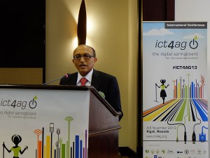 Michael Hailu, director of CTA at the ICT4Ag conference in Kigali, Rwanda (image: Charlie Fripp)