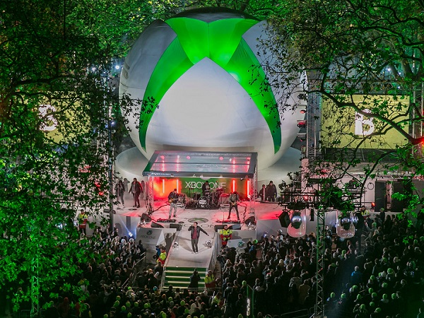 In London, Xbox One turned entertainment epicenter Leicester Square into Xbox One Square (image: Microsoft)