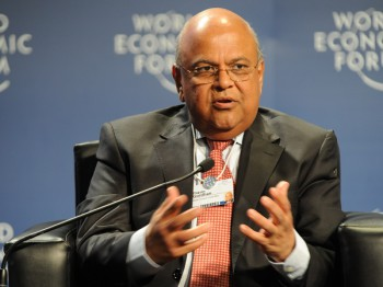 South Africa's Minister of Finance Pravin Gordhan (image: World Economic Forum)