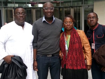 The Afrinolly team with Dumor (second from the left) (image: Afrinolly)