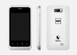 The MTN Steppa smartphone features a large 3.5 inch touch screen display (image: MTN)