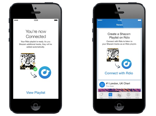 Rdio and Shazam announced an international expansion of their music discovery partnership to include South Africa. (image: Rdio)