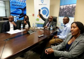 Minister Nsengimana addressing young people during the bi-monthly YouthConnekt Hangout. (Image source: Rwanda Ministry)