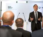 Karl Probst, CIO of the BMW Group, addressing guests at the BMW SAP Competence Hub launch in Pretoria. (Image source: BMW South Africa)