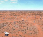 A widefield image showing the SKA Australia Survey Telescopes (image: SKA)