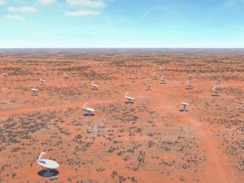A widefield image showing the SKA Australia Survey Telescopes (image: SKA)