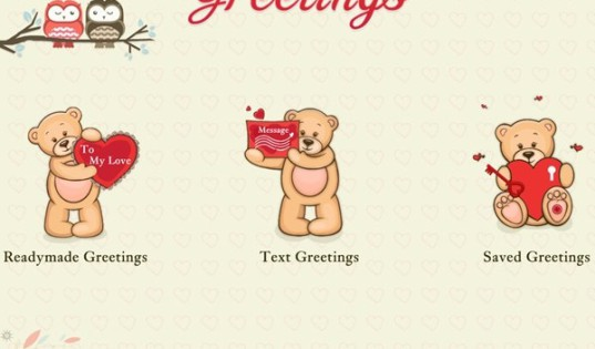 A screenshot of the Valentine's Greetings app (image: Microsoft)