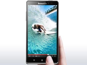 Lenovo's Vibe Z smartphone (image: Charlie Fripp)