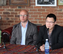 Brett Loubser, Managing Director of WeChat Africa, and Dennis Hau, Head of Product for International Business Group and WeChat parent company Tencent (image: Charlie Fripp)