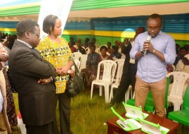 Permanent Secretary in the Ministry of Youth and ICT Mbabazi touring various in the ICT Literacy and Awareness Campaign (image: supplied)