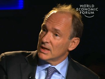 Creator of the World Wide Web and online pioneer Tim Berners-Lee (WEF)